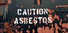 Caution: Asbestos sign